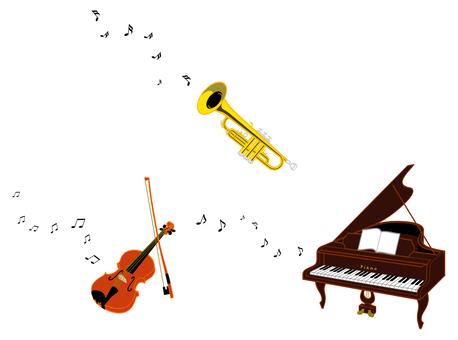 Three instruments (piano / violin / trumpee)