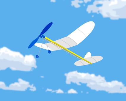 プロペラ飛行機 模型 イラスト