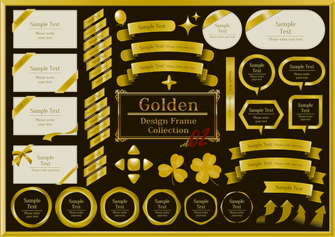 Gold title design frame 02