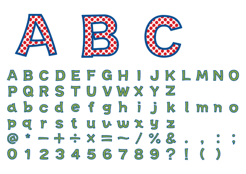 Rough gothic roman letter / dot pattern