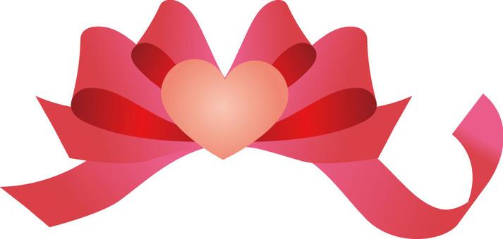 Heart ribbon small