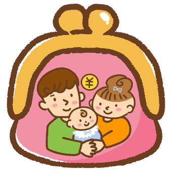 Illustration of a Family Saving Children