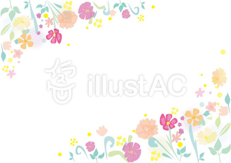季節の花フレーム01イラスト No 1138910無料イラストならイラストac