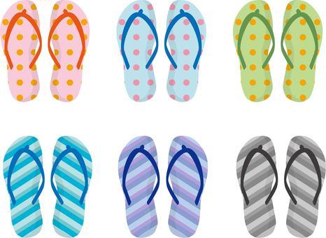 Beach sandal polka dots