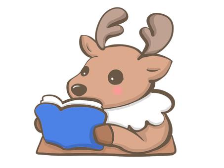 Deer reading