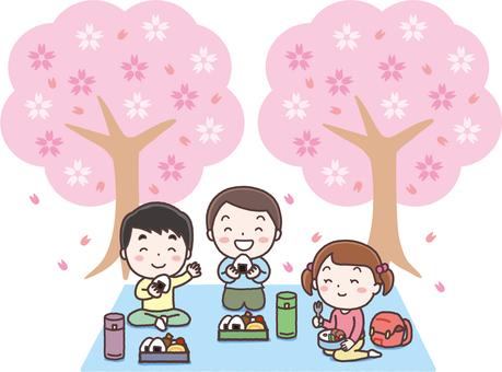 꽃놀이하는 아이들