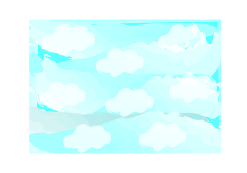 Handwritten Wind Blue Sky