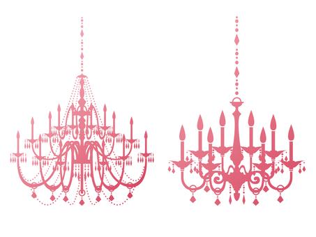 Chandelier pink