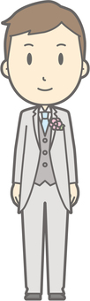 Groom clothes - front - whole body
