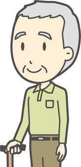Grandfather polo shirt green-254-bust