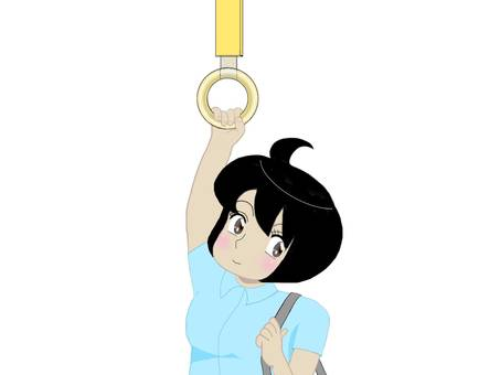 Short sleeved woman with hanging skin