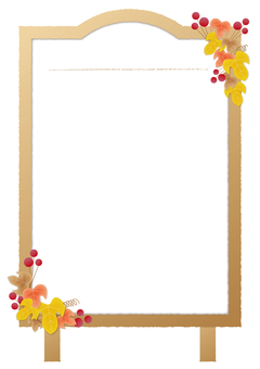 Menu board _ fall _ white