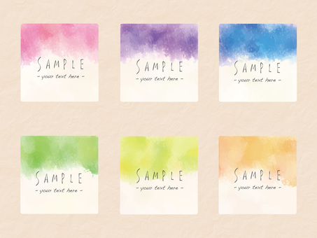 Watercolor frame set ver 15