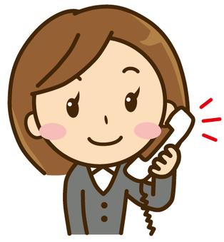 A woman making a phone call
