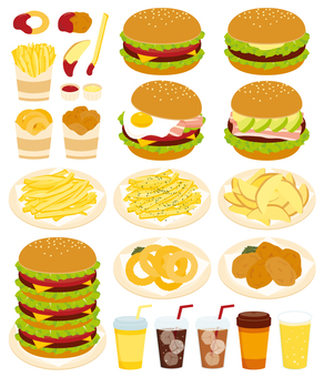 Hamburger and side menu