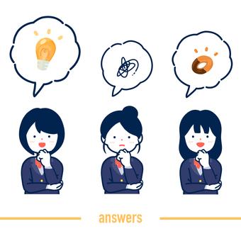 高中女生思考和回答