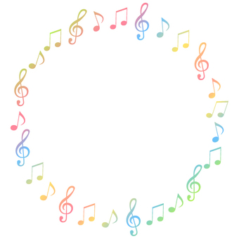 Circular frame 3 of a note