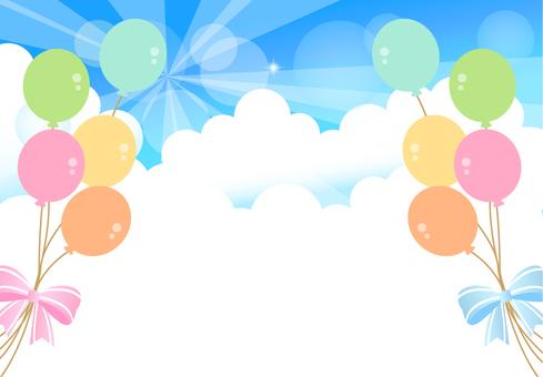 藍色的天空氣球
