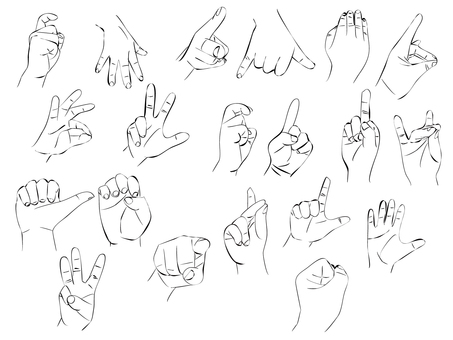 Hand and finger variation