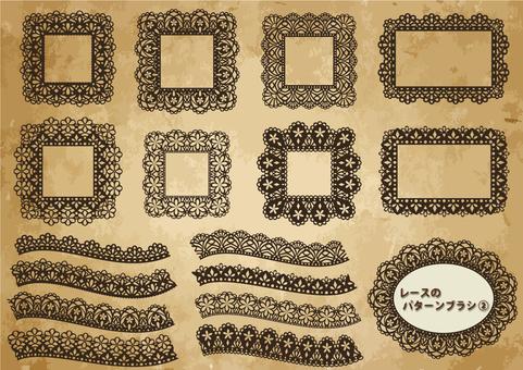 Lace pattern brush 2