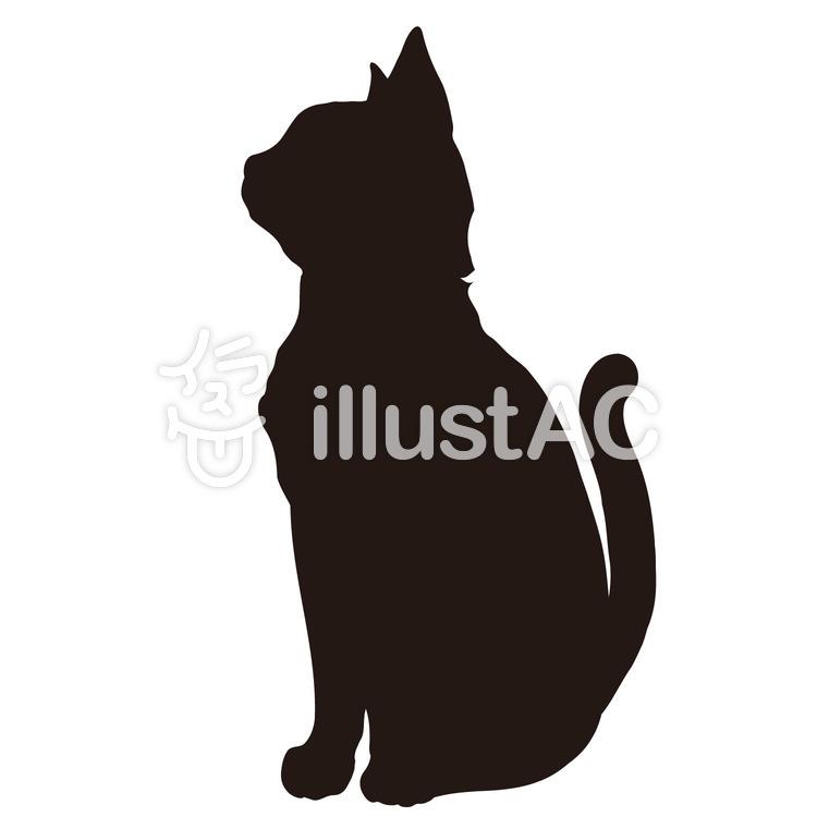 シルエット素材猫 見上げるイラスト No 329529無料イラストなら