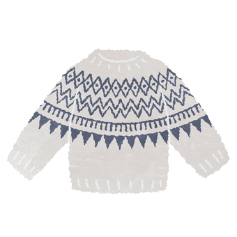 Watercolor style Nordic sweater