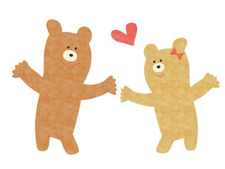 Kuma Couples Love Love Heart