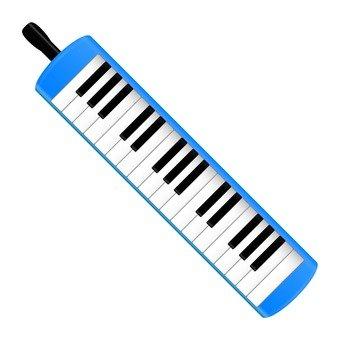 Keyboard harmonica (blue)