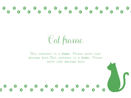 Cat frame 02 / green