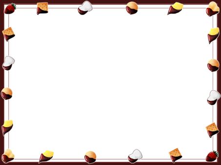 Chocolate fondue frame