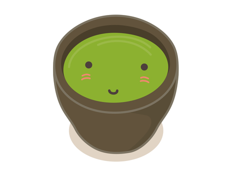 Green tea cat