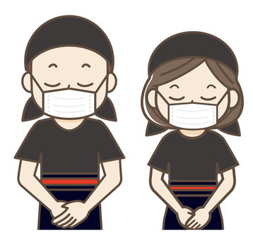 Request to wear a mask 03 (upper body)