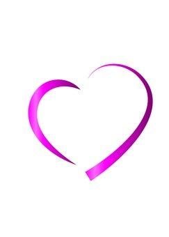 Line Heart (peach)