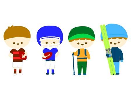 Club activity illustration ⑤ Exercise department