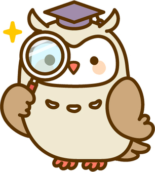 Mr. Owl with magnifying glass