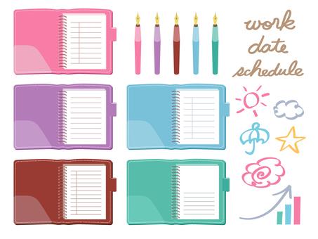 附表書和鋼筆