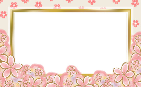 Photo frame 【When cherry blossoms bloom】