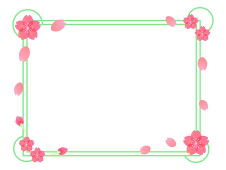 櫻花方形框架