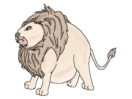 A lumpy lion 【round animal 7】
