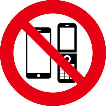 Mobile phone prohibition mark _ smartphone & Garaka