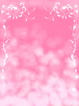 Pink / hand-painted frame