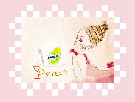 Pear and girl