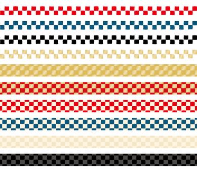 Japanese pattern decorative ruling set 01
