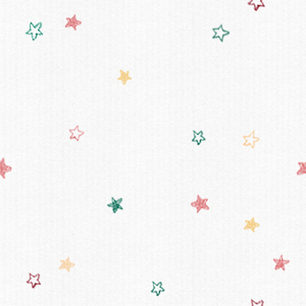 Hand-painted star seamless pattern (colorful)