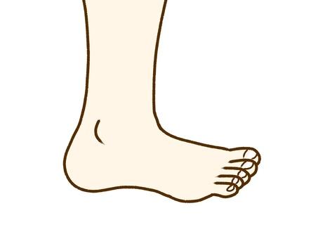 Right foot.