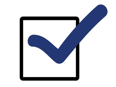 Check box blue