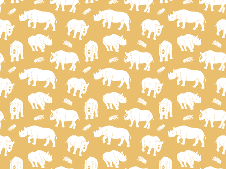 Rhino silhouette pattern