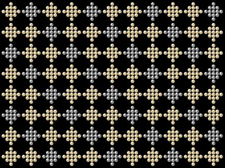 Studded pattern - gold and silver