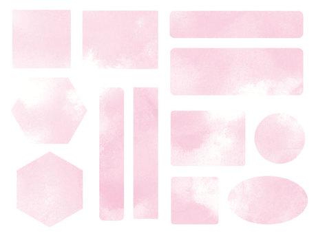 シンプルフレームセット-薄ピンク