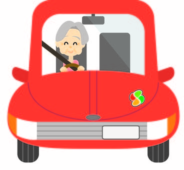Elderly driver woman